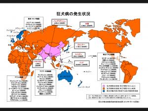 狂犬病地図