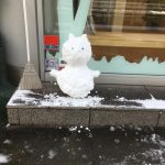 積雪、今日はセンター試験