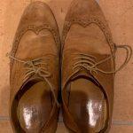靴、涙のお別れ